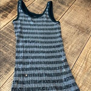 The Limited black/grey sequined tank, small
